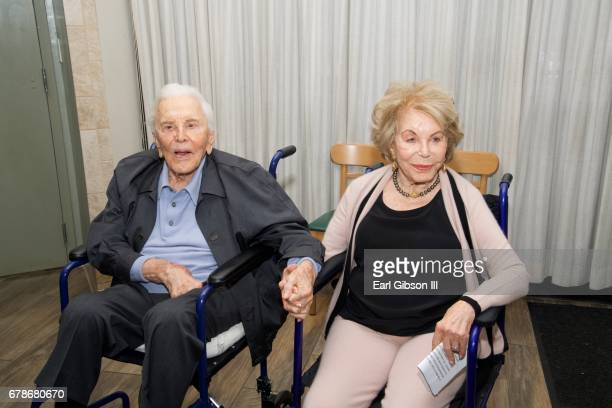 Actor Kirk Douglas and his wife Anne Douglas attend the 25th Anniversary Of The Anne Douglas Center at Los Angeles Mission on May 4 2017 in Los...