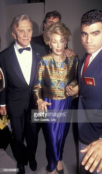 Actor Kirk Douglas and wife Anne Douglas attend 19th Annual American Film Institute Lifetime Achievement Awards Honoring Kirk Douglas on March 7 1991...