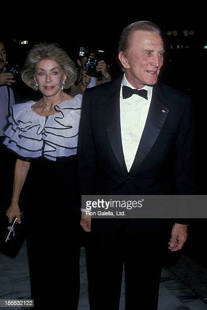 Actor Kirk Douglas and wife Anne Douglas attend The Center Theater Gala on September 9 1988 at the Century Plaza Hotel in Century City California