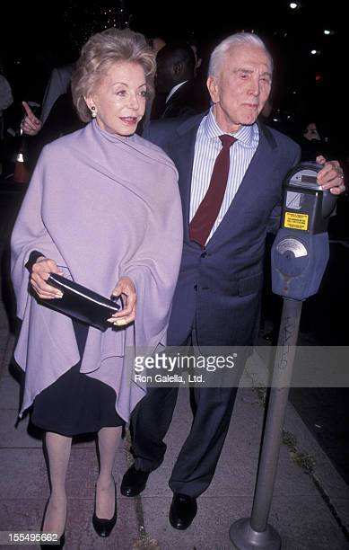 Actor Kirk Douglas and wife Anne Douglas attend the premiere of Diamonds on December 5 1999 at Mann Festival Theater in Westwood California