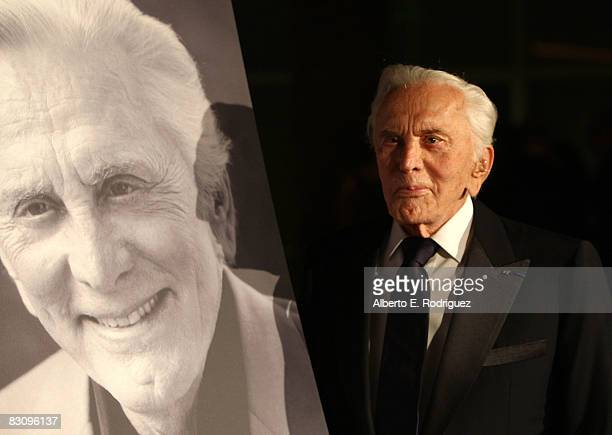 Actor Kirk Douglas arrives at the SBIFF's 3rd Annual Kirk Douglas Award For Excellence in Film held at the Biltmore Four Seasons Hotel on October 2...