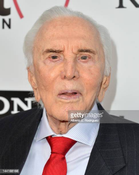 Actor Kirk Douglas arrives to The Heart Foundation Gala at Hollywood Palladium on May 10 2012 in Hollywood California