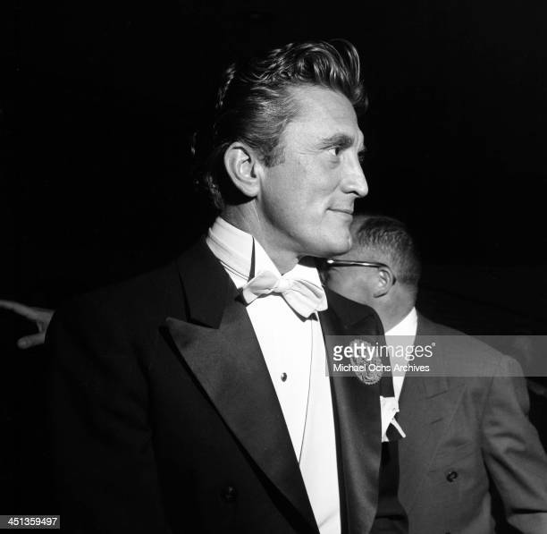 Actor Kirk Douglas attends a party at Ciro's nightclub in Los Angeles California