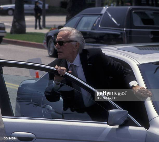 Actor Kirk Douglas attends Frank Sinatra Funeral Service on May 20 1998 at the Little Shepherd Catholic Church in Beverly Hills California