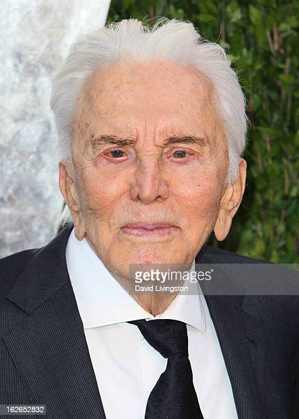 Actor Kirk Douglas attends the 2013 Vanity Fair Oscar Party at the Sunset Tower Hotel on February 24 2013 in West Hollywood California