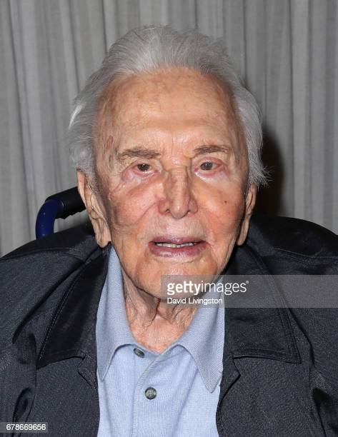 Actor Kirk Douglas attends the 25th anniversary celebration of the Anne Douglas Center at Los Angeles Mission on May 4 2017 in Los Angeles California