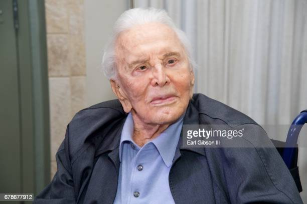 Actor Kirk Douglas attends the 25th Anniversary Of The Anne Douglas Center at Los Angeles Mission on May 4 2017 in Los Angeles California
