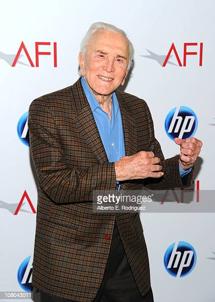 Actor Kirk Douglas attends the Eleventh Annual AFI Awards at the Four Seasons Hotel on January 14 2011 in Los Angeles California
