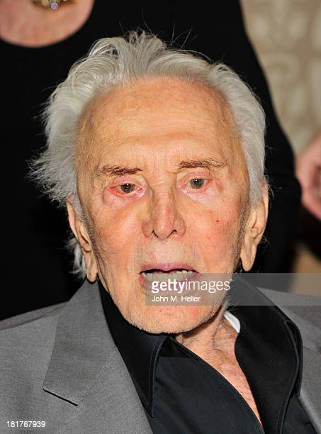 Actor Kirk Douglas attends the Los Angeles Mission's Legacy of Vision Gala at the Four Seasons Hotel Beverly Hills on September 24 2013 in Beverly...