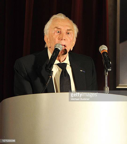 Actor Kirk Douglas attends the Santa Barbara International Film Festival's 5th Annual Kirk Douglas' Excellence In Film Awards at the The Four Seasons...