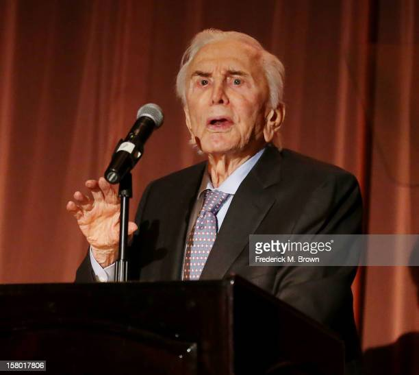 Actor Kirk Douglas attends the SBIFF's 2012 Kirk Douglas Award For Excellence In Film during the Santa Barbara Film Festival on December 8, 2012 in...