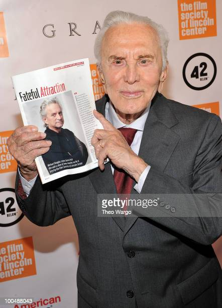 Actor Kirk Douglas attends the The Film Society of Lincoln Center's 37th Annual Chaplin Award gala at Alice Tully Hall on May 24, 2010 in New York...