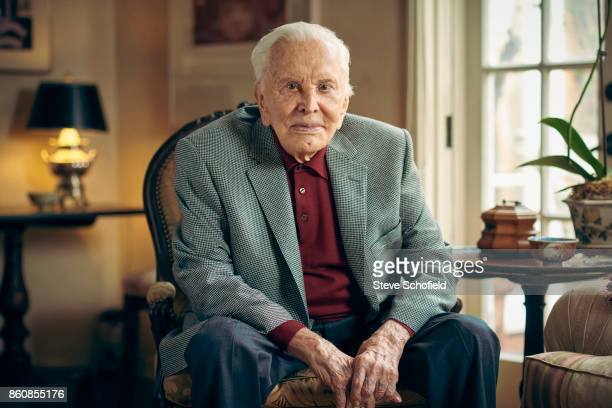 Actor Kirk Douglas is photographed for the Guardian on February 8 2017 in Los Angeles California