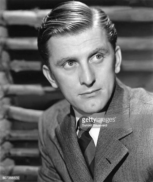 Actor Kirk Douglas on the set of The Strange Love of Martha Ivers.