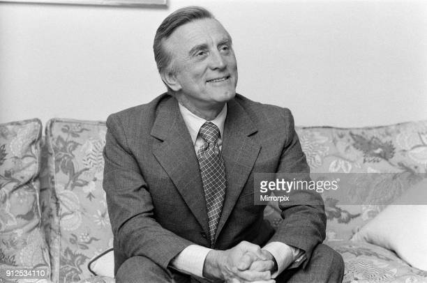 Actor Kirk Douglas pictured in London, 22nd November 1973.