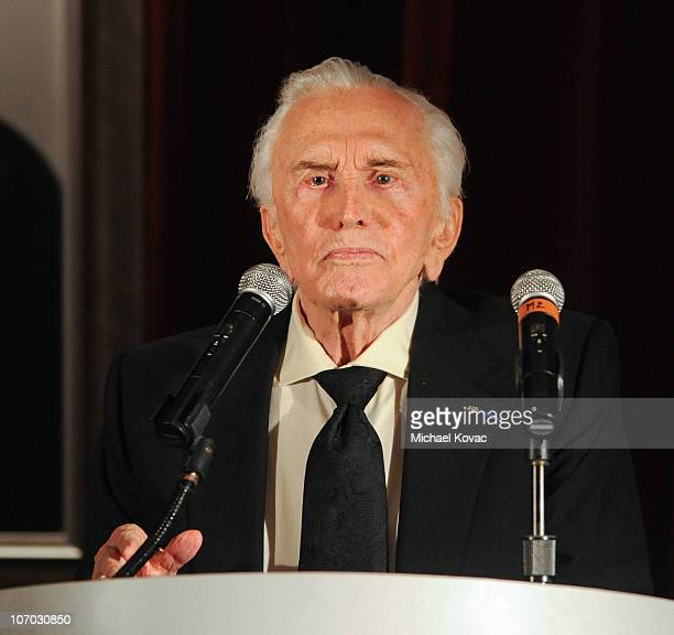 Actor Kirk Douglas presents at SBIFF's 5th Annual Kirk Douglas Award For Excellence In Film Ceremony at The Four Seasons Biltmore on November 19 2010...
