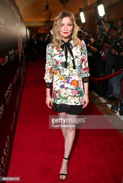 Actor Kirsten Dunst at CinemaCon 2017 Focus Features Celebrating 15 Years and a Bright Future at Caesars Palace during CinemaCon the official...
