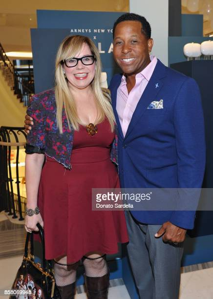 Actor Kirsten Vangsness and HOLA Chair Committee Tony Brown attend a Cocktail Event in support of HOLA Heart of Los Angeles hosted by Barneys New...