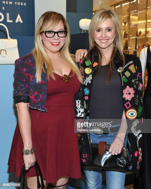 Actor Kirsten Vangsness and Lindsay Berger Sacks attend a Cocktail Event in support of HOLA Heart of Los Angeles hosted by Barneys New York at...