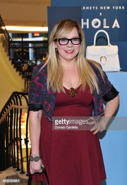 Actor Kirsten Vangsness attends a Cocktail Event in support of HOLA Heart of Los Angeles hosted by Barneys New York at Barneys New York Beverly Hills...