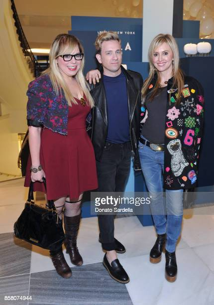 Actor Kirsten Vangsness Tom Lenk and Lindsay Berger Sacks attend a Cocktail Event in support of HOLA Heart of Los Angeles hosted by Barneys New York...
