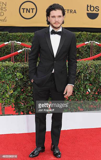 Actor Kit Harington arrives at the 21st Annual Screen Actors Guild Awards at The Shrine Auditorium on January 25 2015 in Los Angeles California