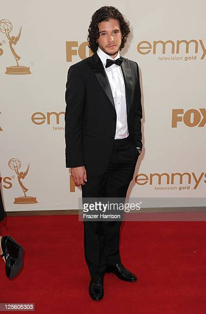 Actor Kit Harington arrives at the 63rd Annual Primetime Emmy Awards held at Nokia Theatre LA LIVE on September 18 2011 in Los Angeles California