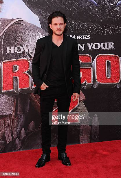Actor Kit Harington arrives at the Los Angeles premiere of 'How To Train Your Dragon 2' at the Regency Village Theatre on June 8 2014 in Westwood...
