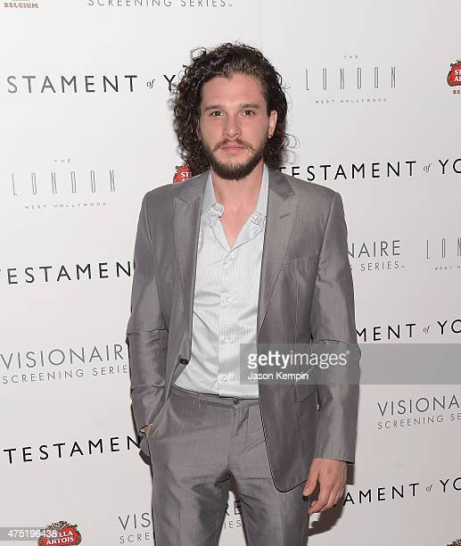 Actor Kit Harington attends a screening of Sony Pictures Classics' Testament Of Youth at The London on May 29 2015 in West Hollywood California