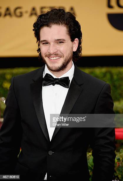 Actor Kit Harington attends the 21st Annual Screen Actors Guild Awards at The Shrine Auditorium on January 25 2015 in Los Angeles California