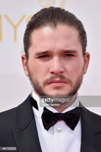 Actor Kit Harington attends the 66th Annual Primetime Emmy Awards held at Nokia Theatre LA Live on August 25 2014 in Los Angeles California
