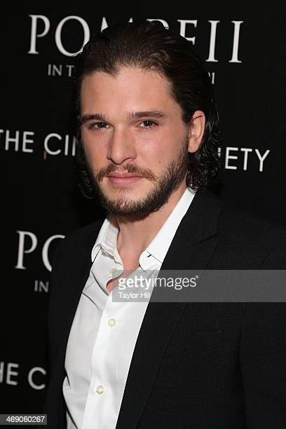 Actor Kit Harington attends the Pompeii screening hosted by TriStar Pictures with the Cinema Society and Grey Goose at Crosby Street Hotel on...
