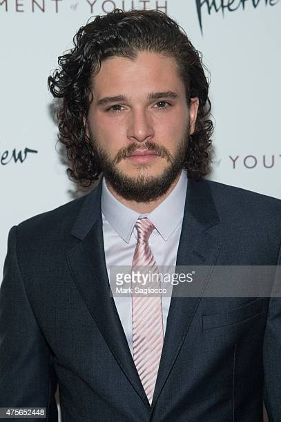 Actor Kit Harington attends the Testament of Youth New York Premiere at the Chelsea Bow Tie Cinemas on June 2 2015 in New York City