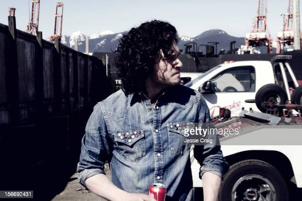 Actor Kit Harington is photographed for Flaunt Magazine on March 24 2012 in Vancouver British Columbia