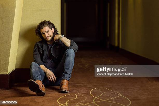 Actor Kit Harington is photographed for Paris Match on July 9 2015 in Paris France