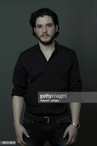 Actor Kit Harington is photographed for the Independent on January 8 2015 in London England