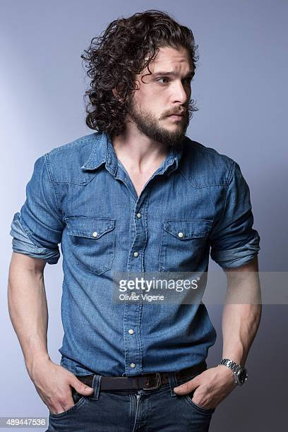 Actor Kit Harington is photographed on July 9th, 2015 in Paris, France.