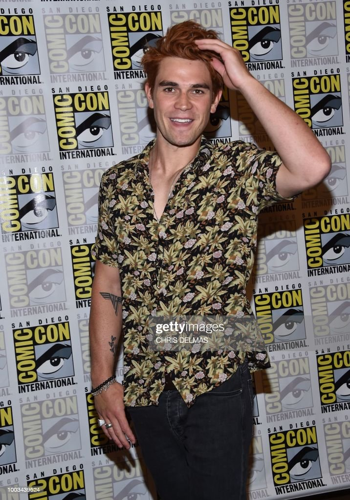 Actor K J Apa Arrives For The Press Line Of Riverdale At Comic