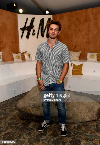 Actor KJ Apa attends HM Loves Coachella Tent during day 1 of the Coachella Valley Music Arts Festival at the Empire Polo Club on April 14 2017 in...