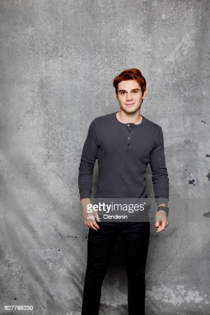 Actor KJ Apa from the television series 'Riverdale' is photographed in the LA Times photo studio at ComicCon 2017 in San Diego CA on July 22 2017...