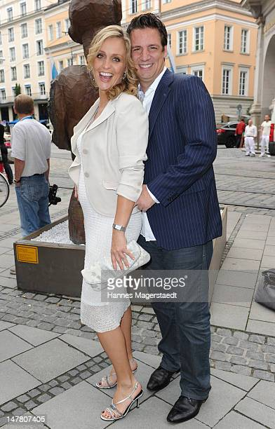 Actor Klaus Gronewald and his girlfriend SandraMaria Meier attend the ZDF reception during the Munich Film Festival 2012 at the H'ugo's on July 3...