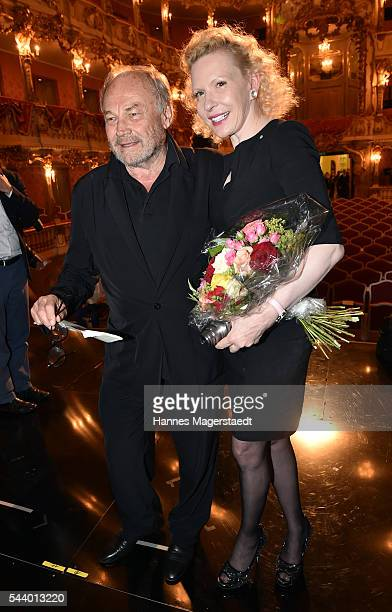 Actor Klaus Maria Brandauer and Sunnyi Melles attend the Bernhard Wicki Award during the Munich Film Festival 2016 at Cuvilles Theatre on June 30,...