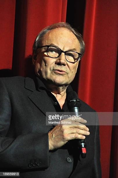 Actor Klaus Maria Brandauer attends 'Der Fall Wilhelm Reich' Austria Premiere at Urania Cinema on January 15 2013 in Vienna Austria