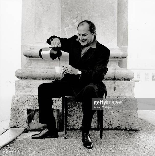 Actor Klaus Maria Brandauer is photographed for Self Assignment on July 18, 2001 in Vienna, Austria.