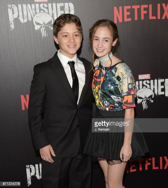 Actor Kobi Frumer and actress Ripley Sobo attend the 'Marvel's The Punisher' New York Premiere on November 6 2017 in New York City