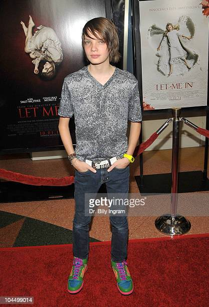 Actor Kodi SmitMcPhee arrives at the Let Me In Los Angeles Premiere at Mann Bruin Theatre on September 27 2010 in Westwood California