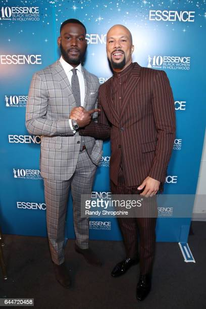 Actor Kofi Siriboe and Common at Essence Black Women in Hollywood Awards at the Beverly Wilshire Four Seasons Hotel on February 23 2017 in Beverly...