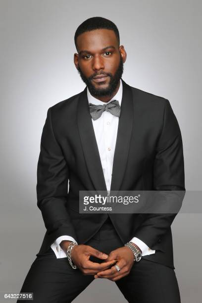 Actor Kofi Siriboe poses for a portrait for BET's 2017 American Black Film Festival Honors Awards at The Beverly Hilton Hotel on February 17 2017 in...