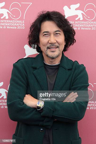 Actor Koji Yakusho attends a photocall for '13 Assassins' during the 67th Venice Film Festival at the Palazzo del Casino on September 9 2010 in...