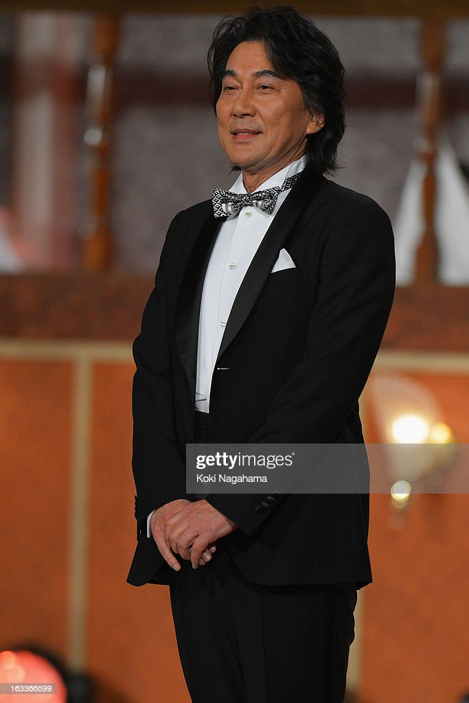 Actor Koji Yakusho attends the 36th Japan Academy Prize Award Ceremony at Grand Prince Hotel Shin Takanawa on March 8, 2013 in Tokyo, Japan.